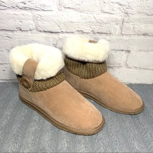 NEW Womens Rampage Parvin fuzzy ankle boots